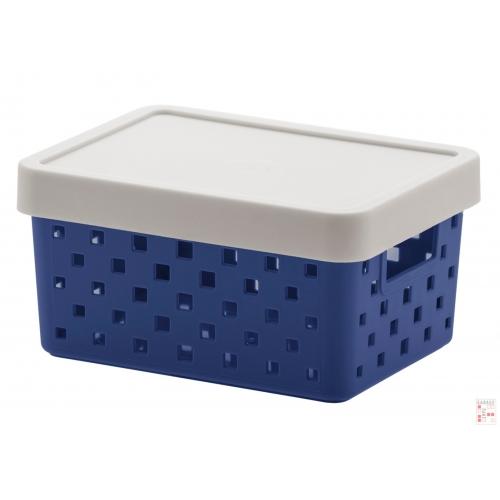 Caja Organizadora Calada Chica Azul Quadratta