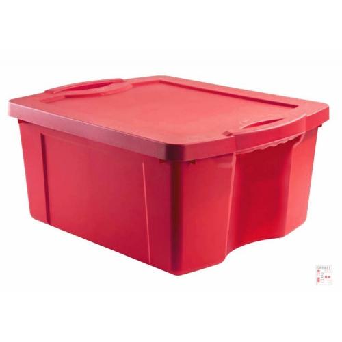 Caja Organizadora De 55 Litros Roja FullBox