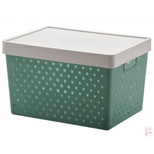 Caja Organizadora Calada Grande Verde Quadratta