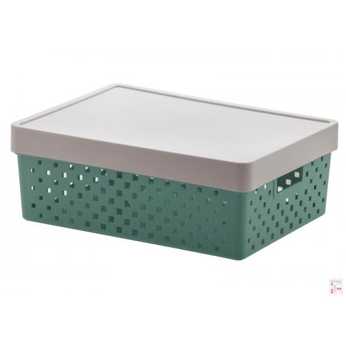 Caja Organizadora Calada Mediana Verde Quadratta