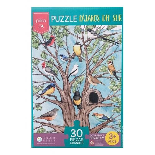 Juego Puzzle Didáctico Infantil De Encastre Niños Aves
