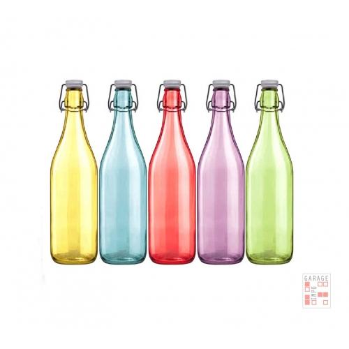 Botella De Vidrio De Color Con Tapón Hermético 500 ml