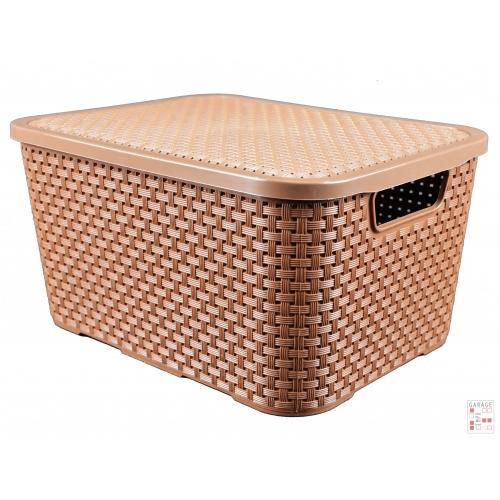 Caja Organizadora Plástica Simil Ratan 20 Lts. Arqplast