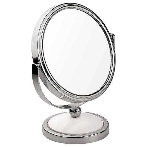 Espejo para maquillaje de pie aumento doble cara