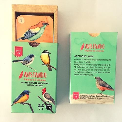 Juego Cartas Avistando Pájaros Del Uruguay