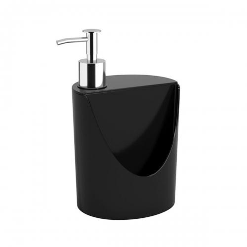 Dispensador De Jabón Detergente 600 Ml Porta Esponja Oval Coza