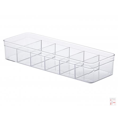 Caja Organizadora Multiuso Cristal Con Divisiones 35 Cm