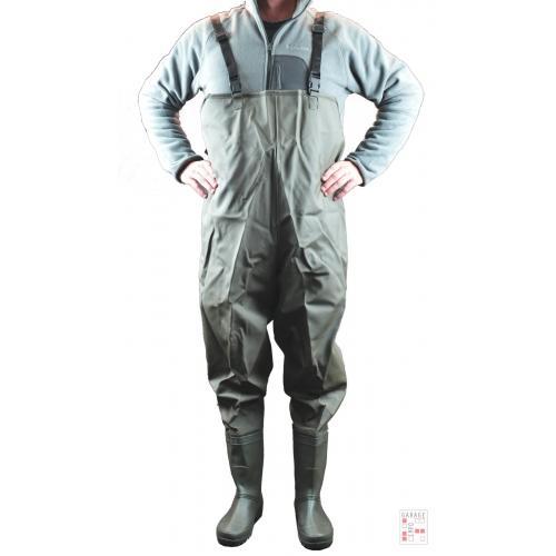 Wader Pantalón Con Botas Para Pesca Trabajo Talles 41-42-43