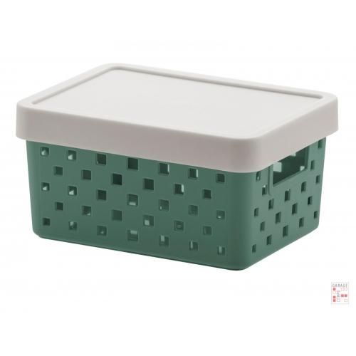 Caja Organizadora Calada Chica Verde Quadratta