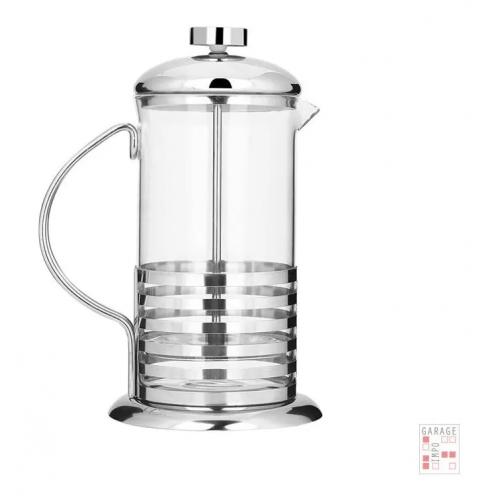Cafetera Manual Embolo Prensa Francesa Vidrio Y Acero 800 Ml
