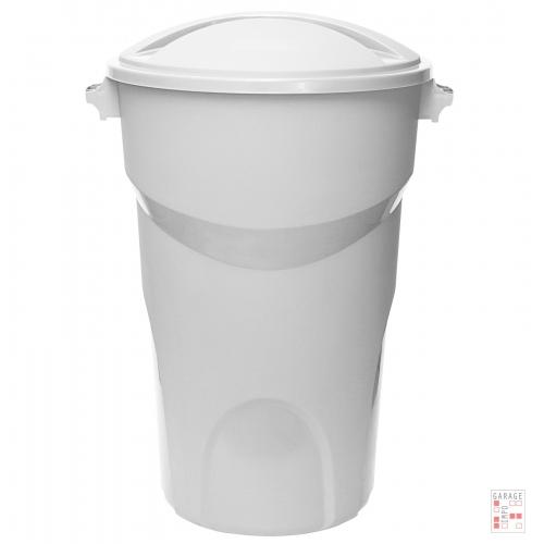 Tarro De Residuos 100 Litros con Tapa Separada Blanco
