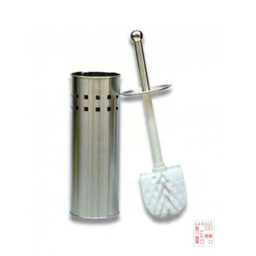 Escobilla Cepillo Para Baño Limpia Inodoro En Acero Inox Con Tapa