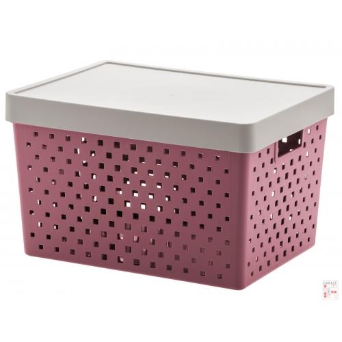 Caja Organizadora Calada Grande Rosa Quadratta