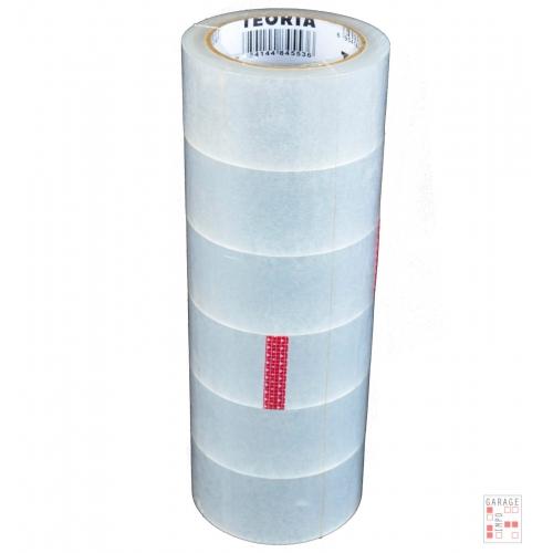 Cinta Adhesiva Teoria+ Empaque Ancha 100 M Pack X6 Transp