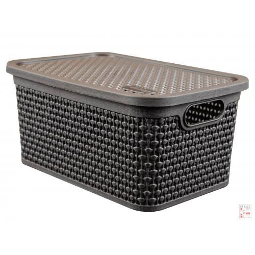 Caja Organizadora Perlada Simil Ratan 4 Lts.
