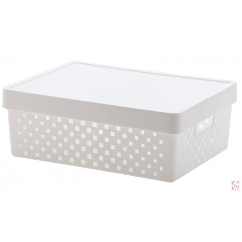 Caja Organizadora Calada Mediana Blanca Quadratta