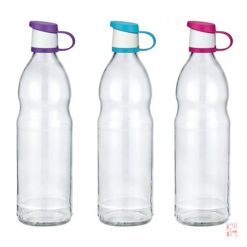 Botella De Vidrio 1 Litro Tapa Plástica Colores Zen Renga