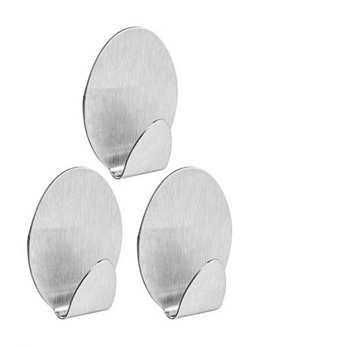 Gancho Oval metálico multiuso con adhesivo Sanremo