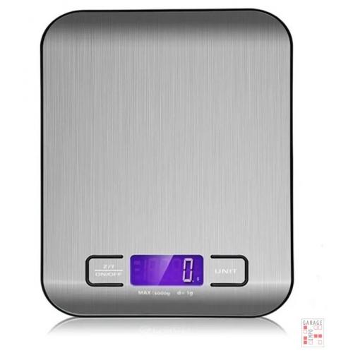 Balanza Cocina Digital Hasta 5kg Gris plata
