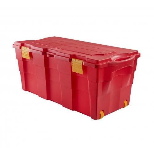 Baul Organizador 100 Lts Rojo tapa roja
