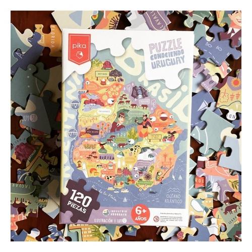 Puzzle Didáctico Infantil de encastre Conociendo Uruguay