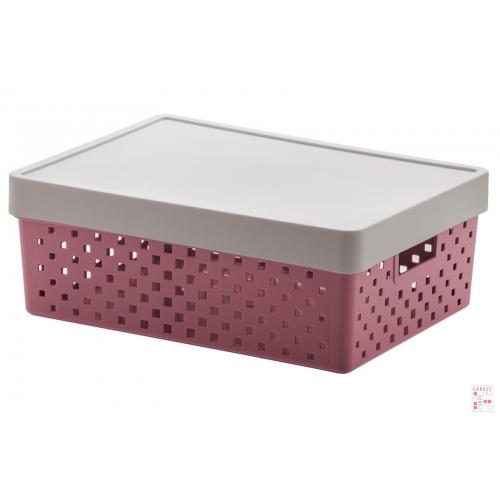Caja Organizadora Calada Mediana Rosa Quadratta