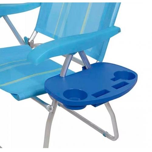 Mesa auxiliar para silla y reposera de playa