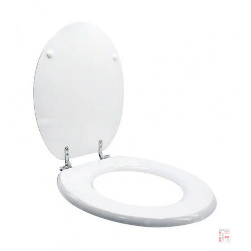Asiento Tapa De Inodoro Blanca De Madera