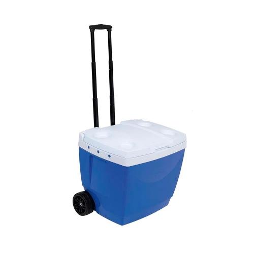 Conservadora Térmica 42lts Azul Con ruedas Y Manija