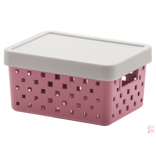 Caja Organizadora Calada Chica Rosa Quadratta